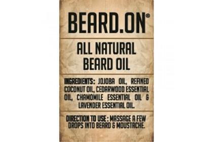 Beard.On® All Natural Beard Oil -30ml